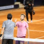 Corentin Moutet and Cristian Garin at UTS 4