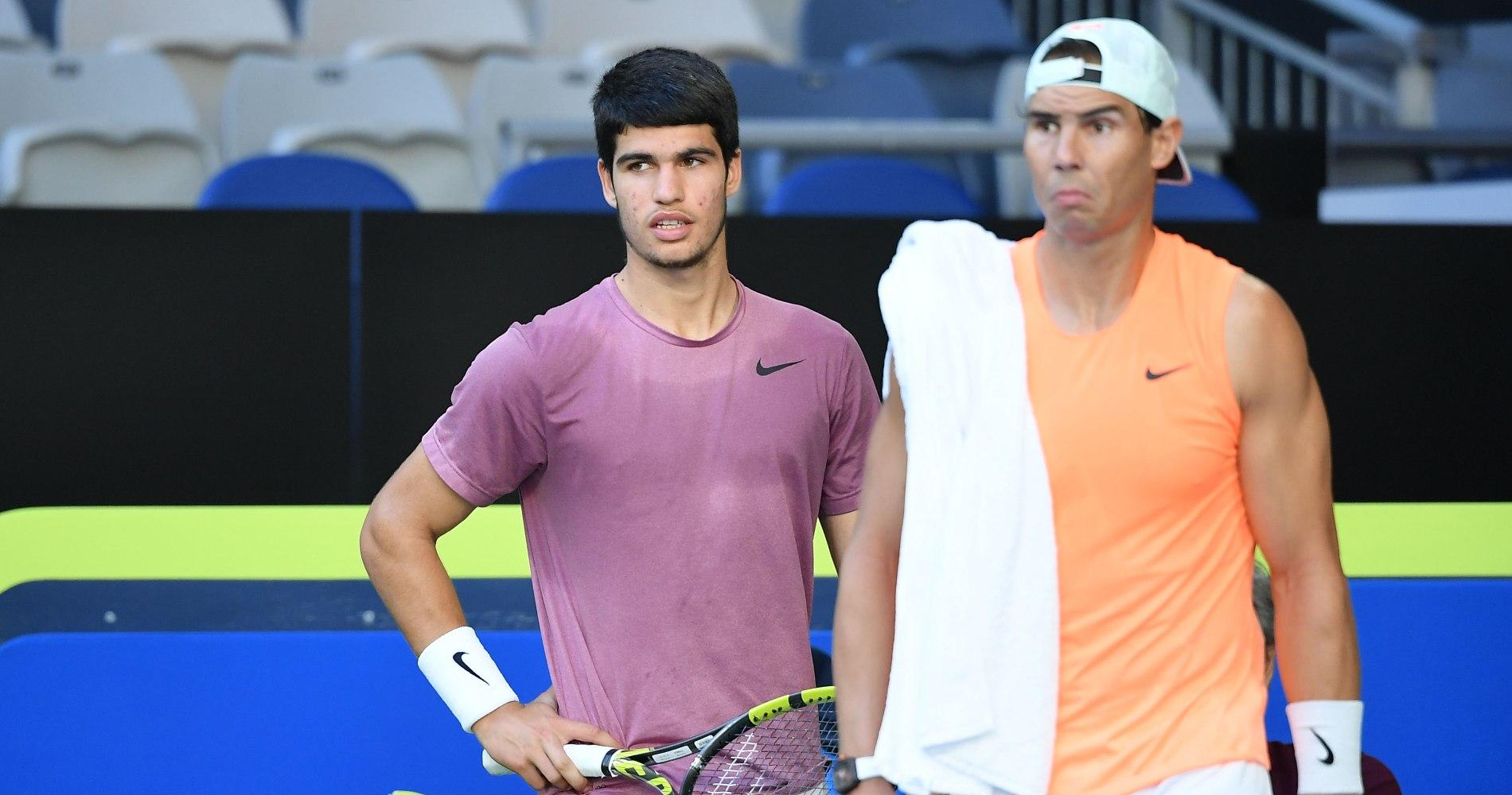 Carlos Alcaraz & Rafael Nadal, Melbourne, 2021