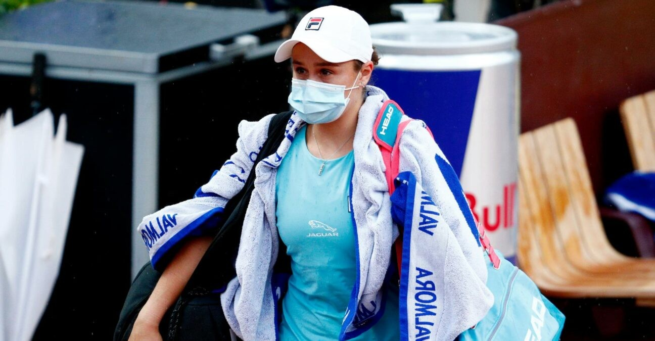 Ashleigh Barty at Rome in 2021