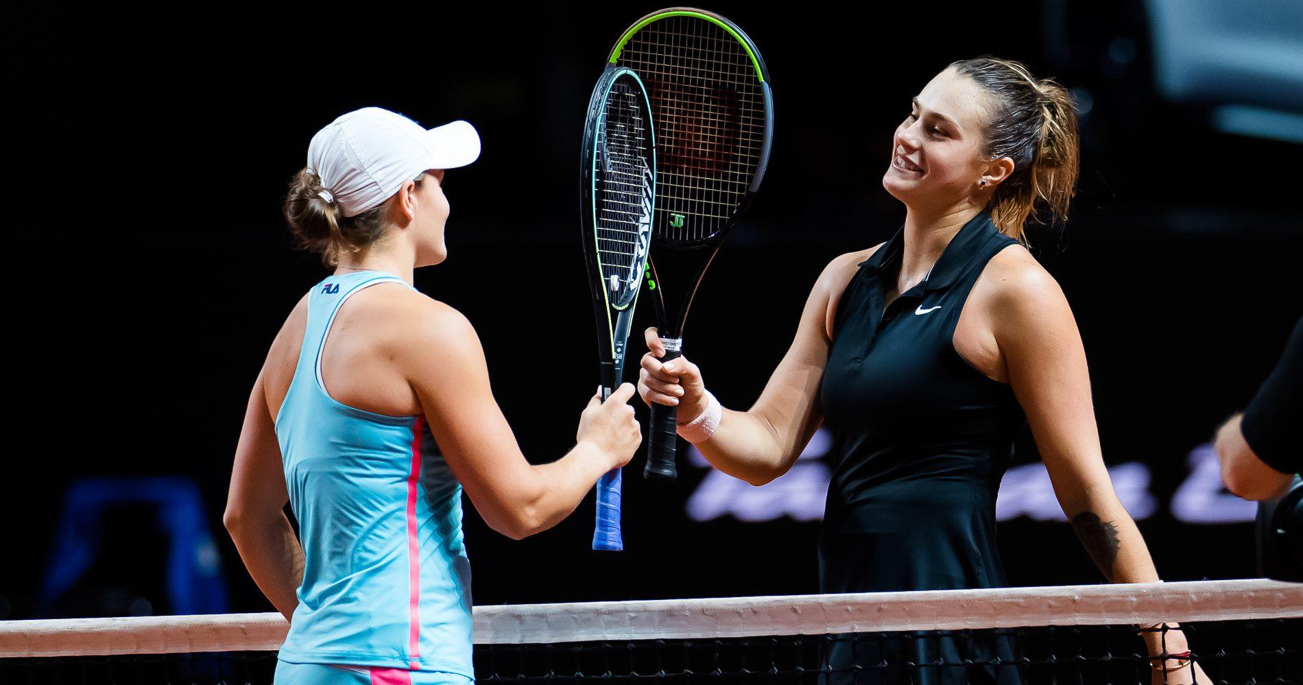 Ashleigh Barty & Aryna Sabalenka, Stuttgart, 2021