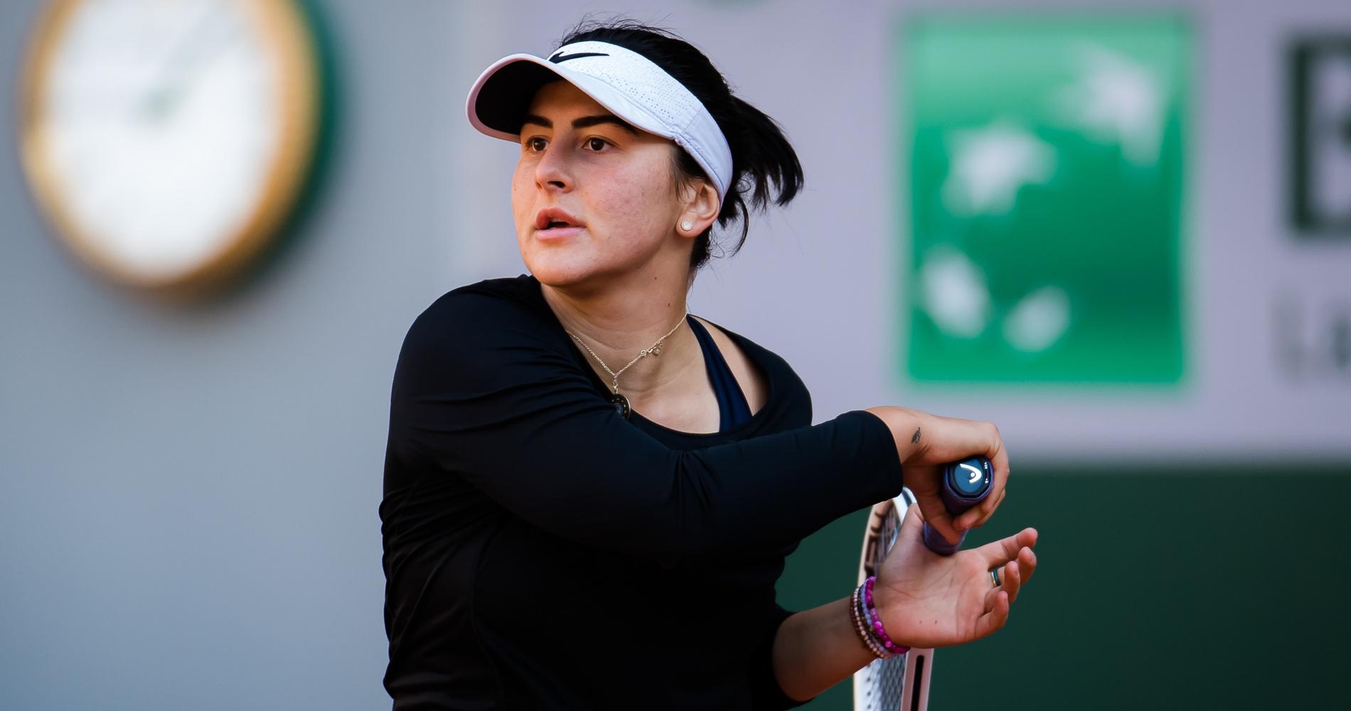 Bianca Andreescu in practice