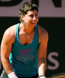 Carla Suarez Navarro at Roland-Garros in 2021