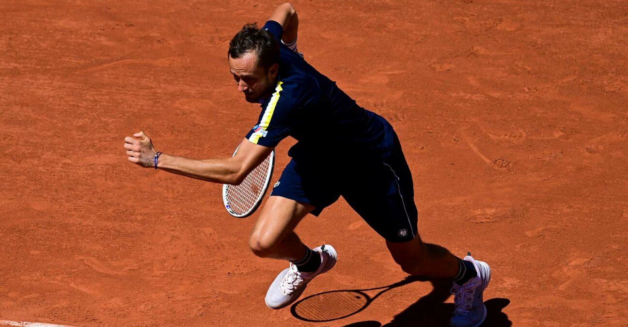 Daniil Medvedev at Roland-Garros in 2021