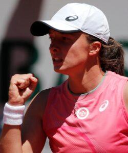 Iga Swiatek at Roland-Garros in 2021