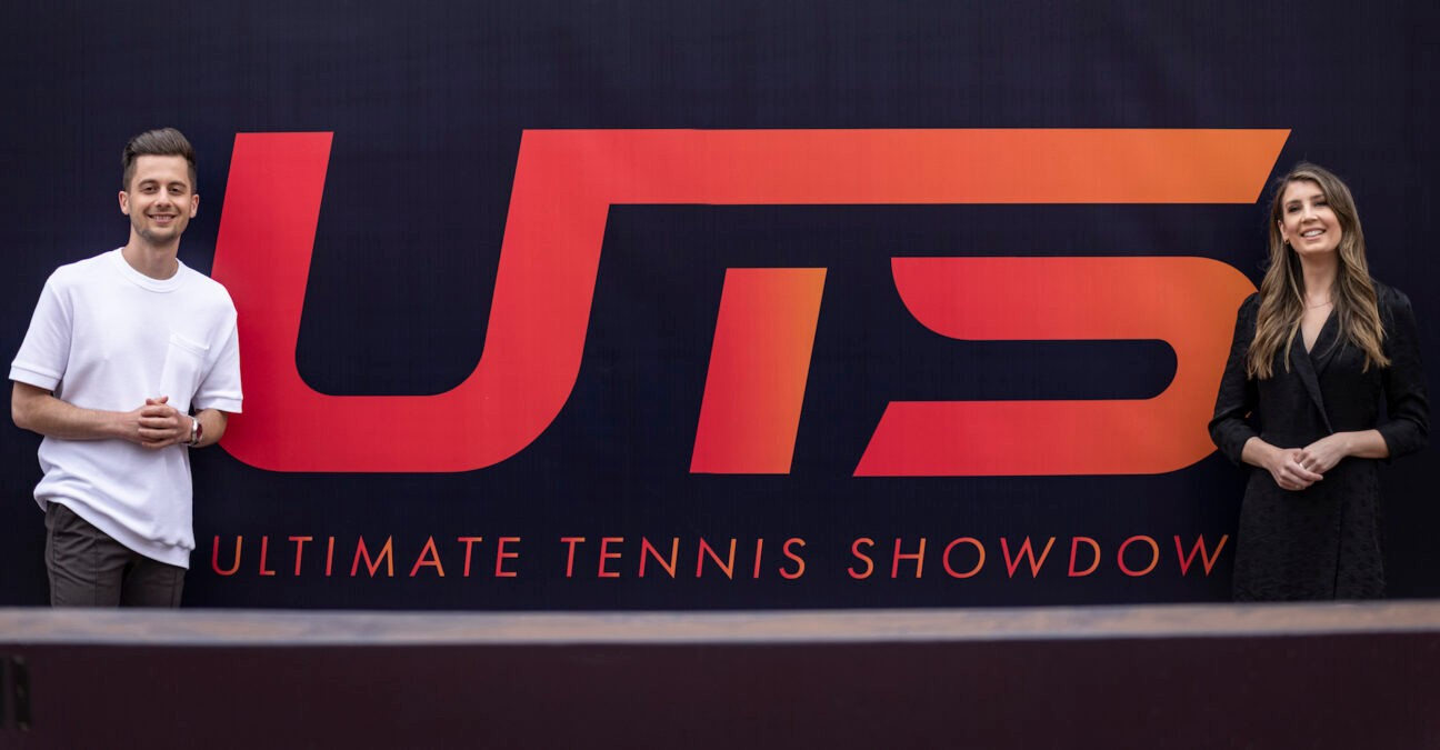 Max Whittle and Jenny Drummond, media faces of Ultimate Tennis Showdown, in 2021