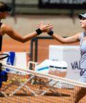 Kristina Mladenovic & Belinda Bencic at Rome in 2021