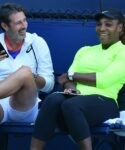 Patrick Mouratoglou & Serena Williams at the US Open in 2019