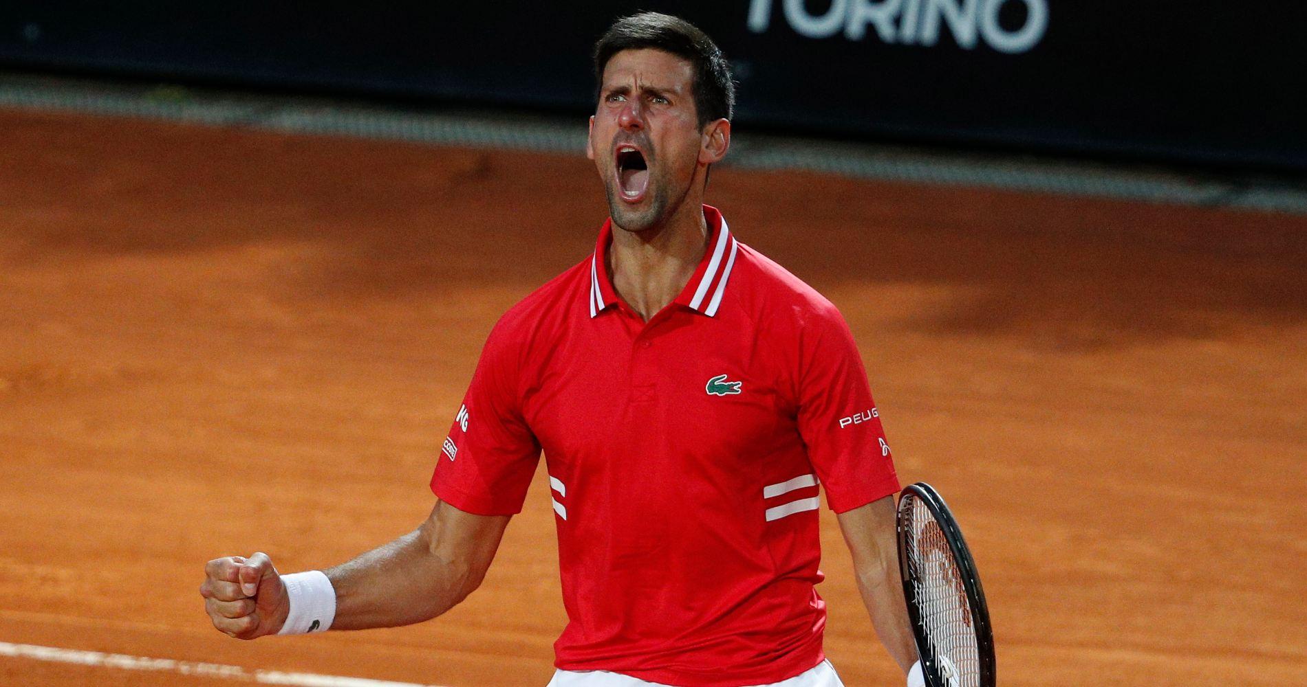 Novak Djokovic at Rome in 2021