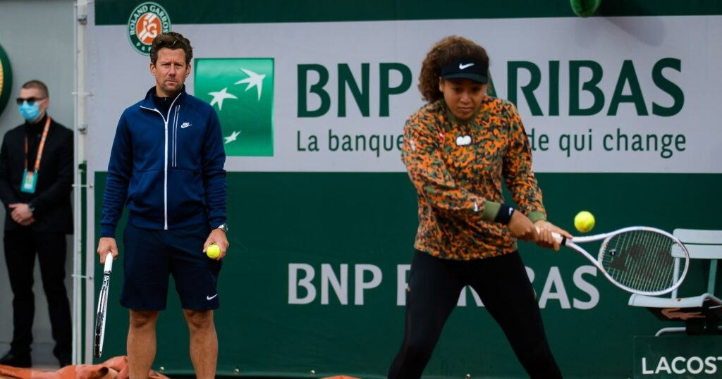 Naomi Osaka, Wim Fissette, Roland-Garros