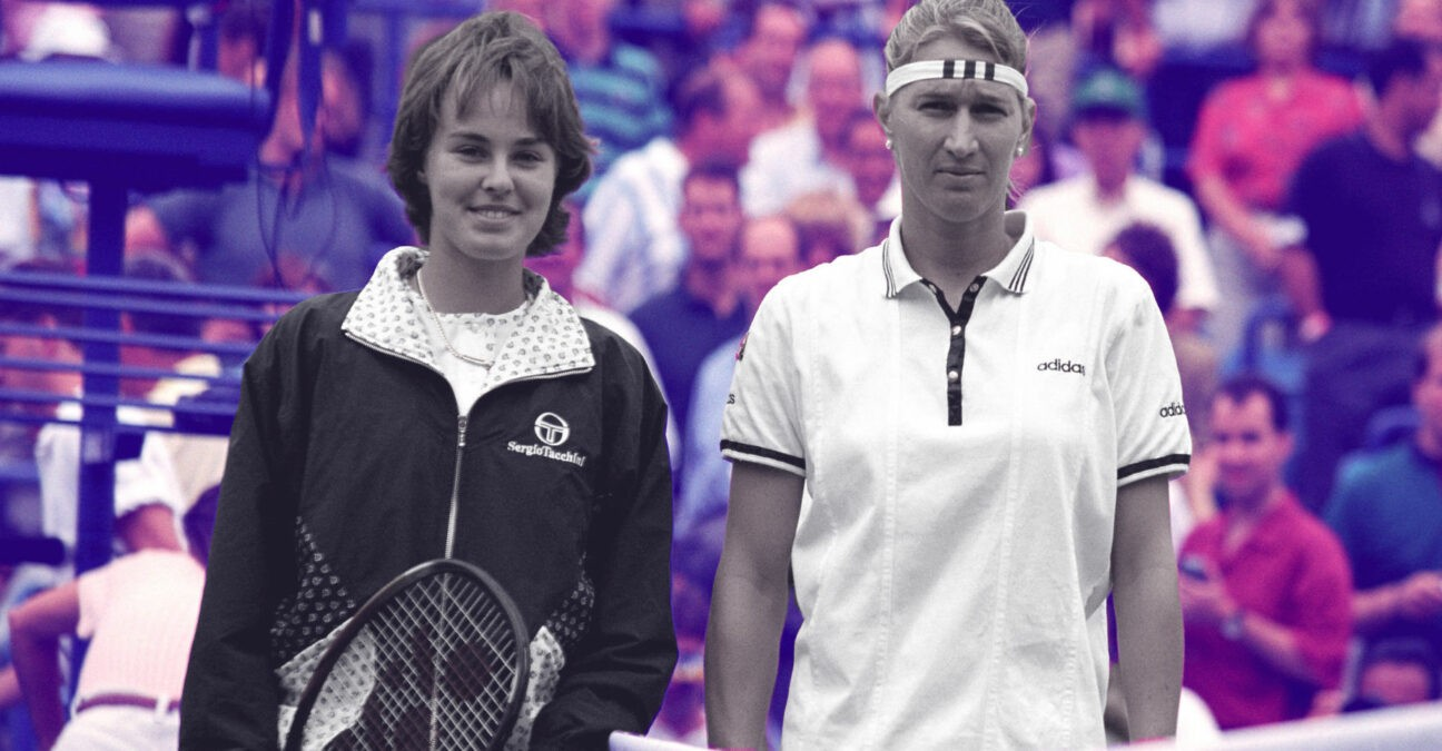 Martina Hingis and Steffi Graf, On this day