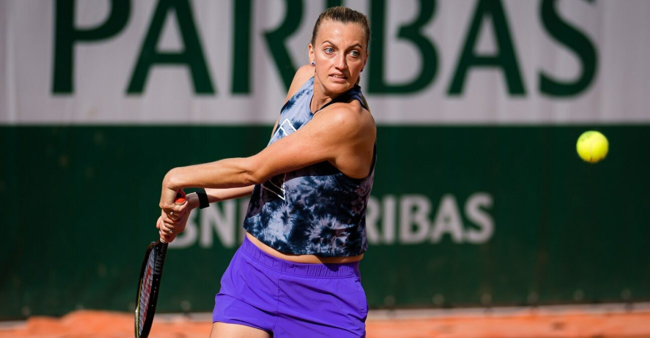 Petra Kvitova, practice, Roland-Garros