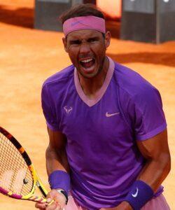 Rafael Nadal at Rome in 2021