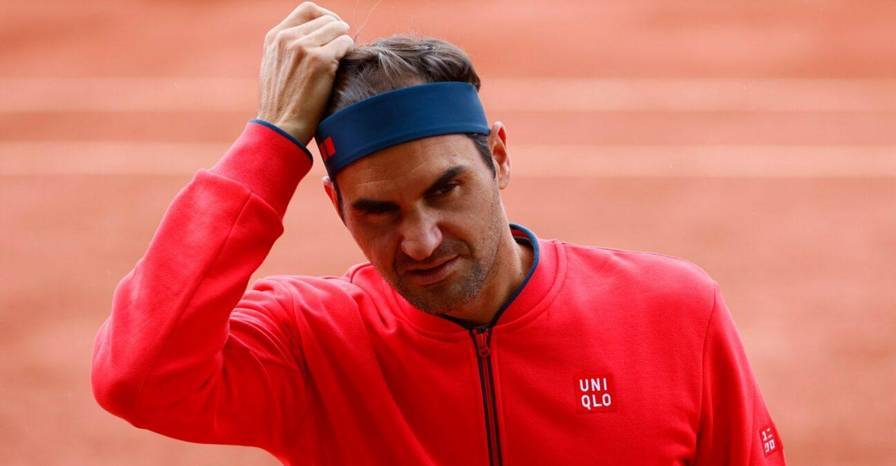 Roger Federer in Geneva in 2021