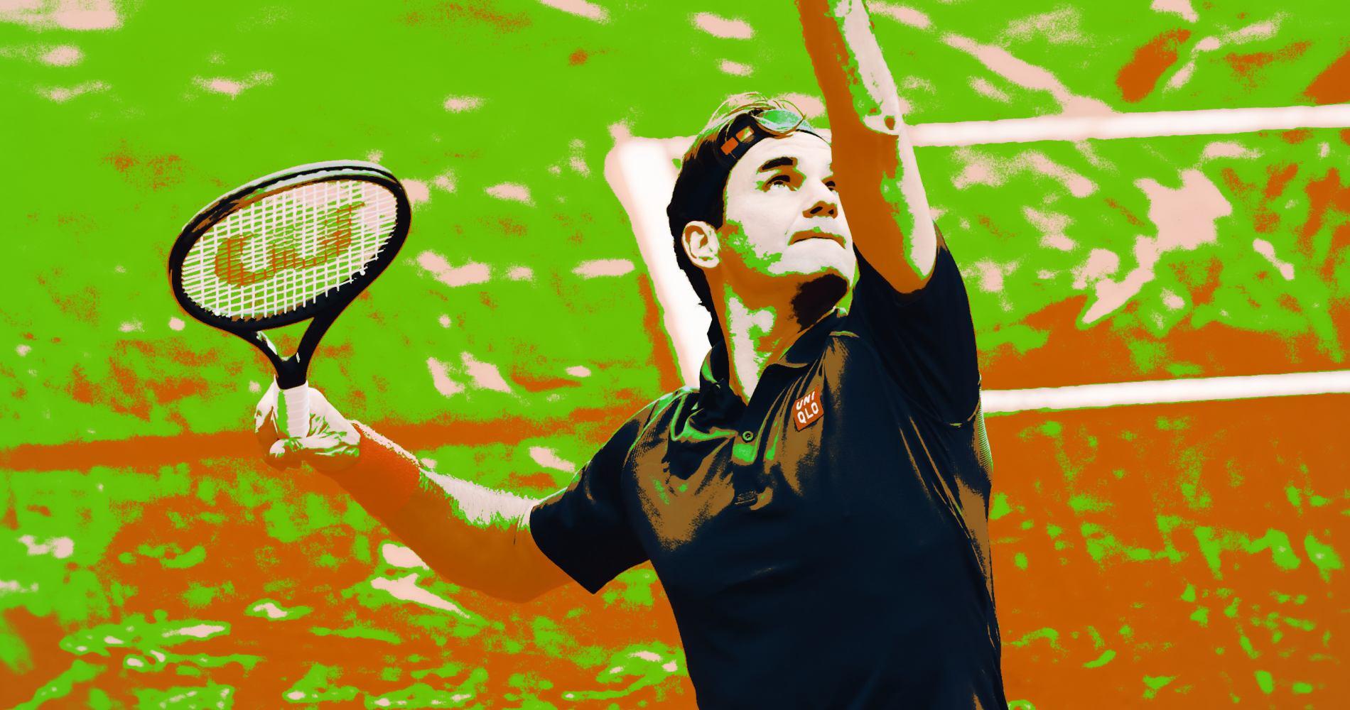 Roger Federer at Geneva in 2021