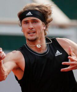 Alexander Zverev at Roland-Garros in 2021