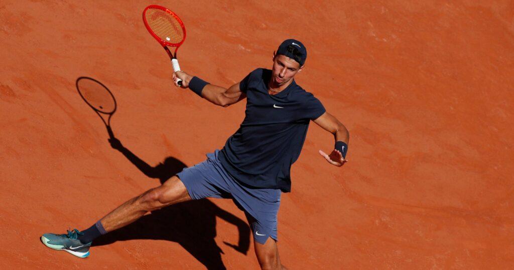 Alexei Popyrin at Roland-Garros in 2021