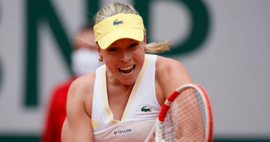 Anett Kontaveit at Roland-Garros in 2021