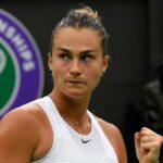 Aryna Sabalenka at Wimbledon in 2021