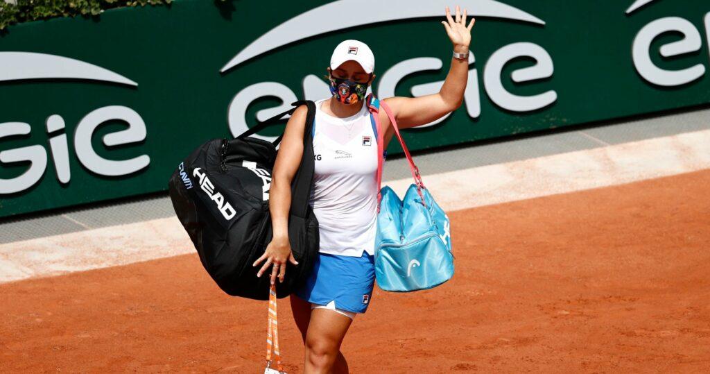 Ashleigh Barty at Roland-Garros in 2021