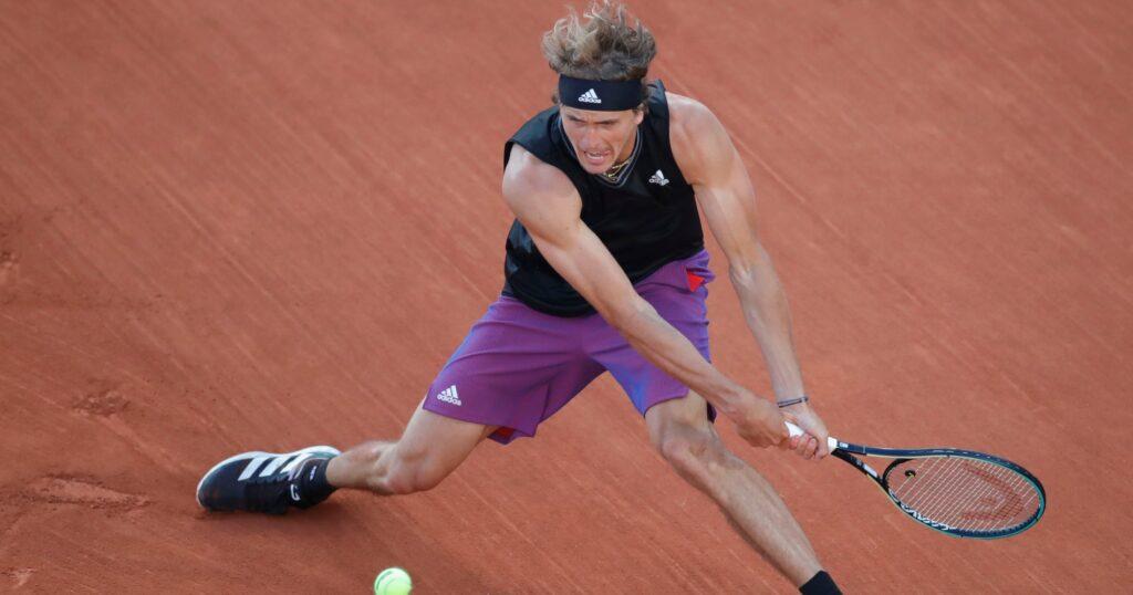 Alexander Zverev at Roland-Garros 2021