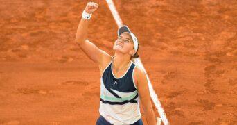 Barbora Krejcikova at Roland-Garros in 2021