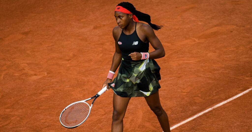 Cori Gauff at Roland-Garros in 2021