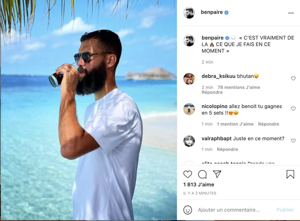 Benoit Paire, Instagram