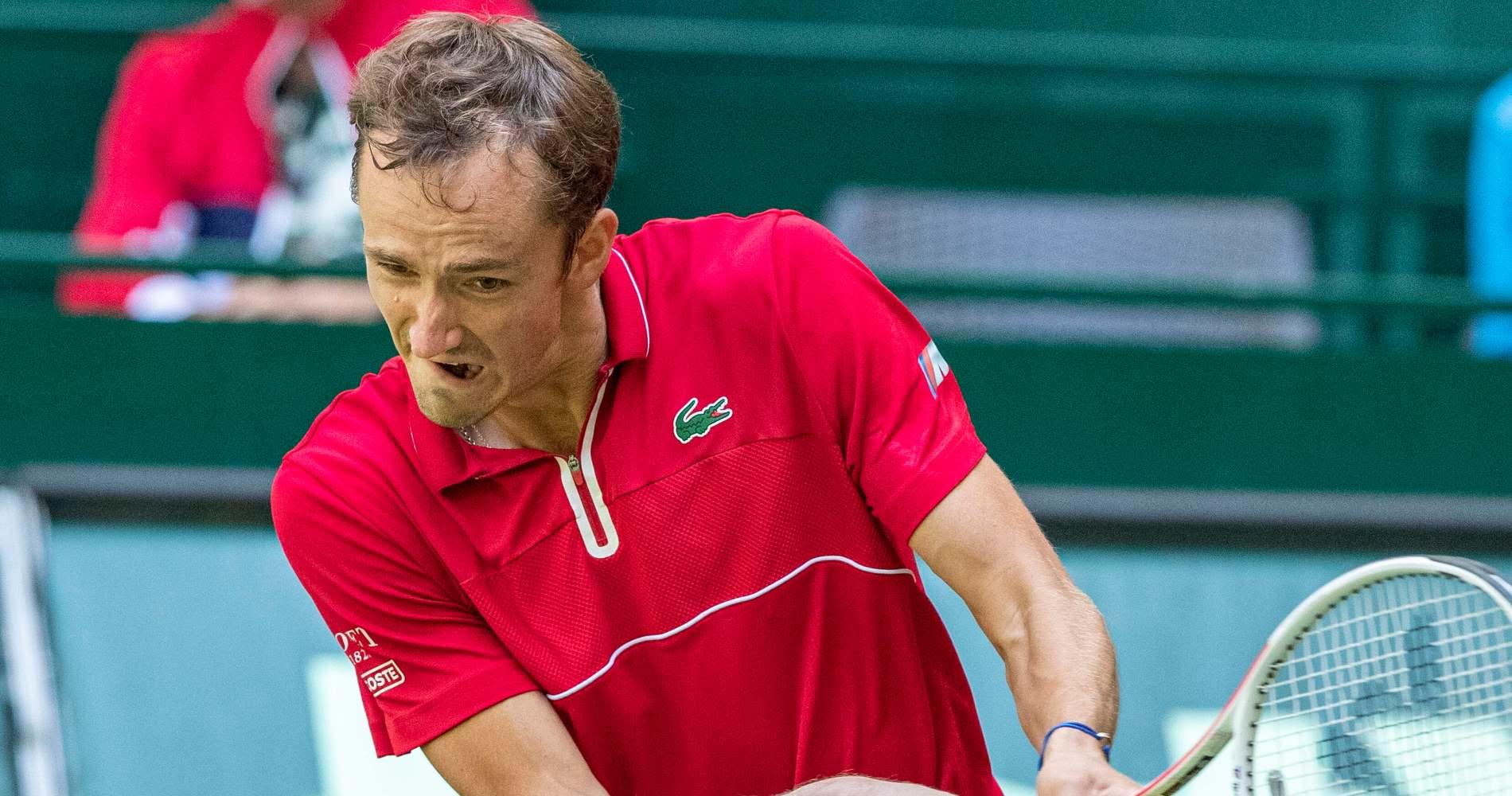 Daniil Medvedev at Halle in 2021