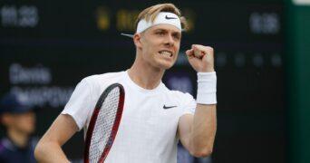 Denis Shapovalov at Wimbledon in 2021