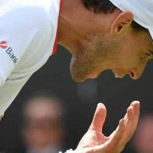 Dominic Thiem at Wimbledon in 2019