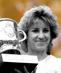 Chris Evert at Roland-Garros in 1986