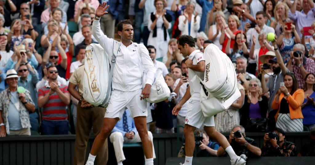 Rafael Nadal & Roger Federer at Wimbledon in 2019