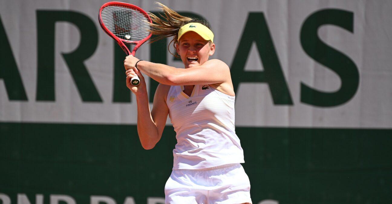Fiona Ferro at Roland-Garros in 2021