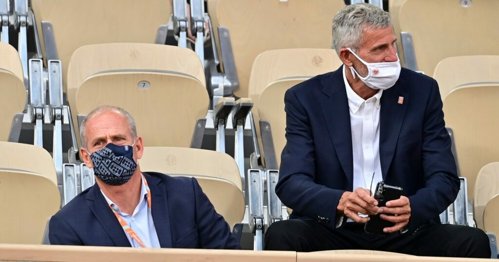 Guy Forget & Gilles Moretton at Roland-Garros in 2021