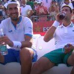 Carlos Gomez-Herrera & Novak Djokovic at Mallorca in 2021