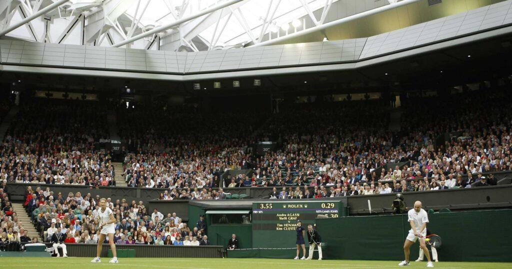 Andre Agassi & Steffi Graf at Wimbledon in 2009
