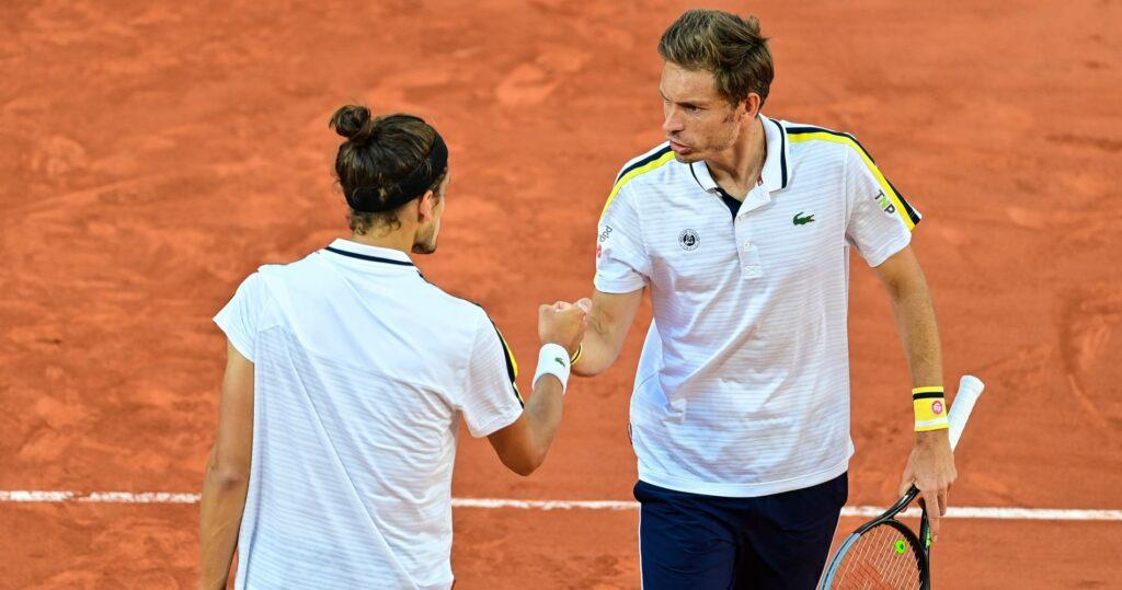 Pierre-Hugues Herbert & Nicolas Mahut at Roland-Garros in 2021