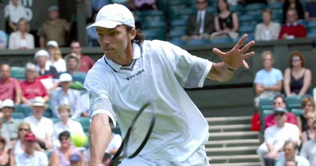 Ivo Karlovic at Wimbledon in 2003