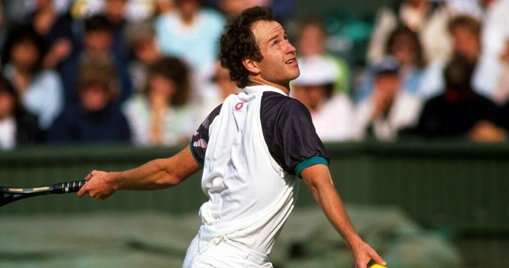 John McEnroe at Wimbledon in 1989