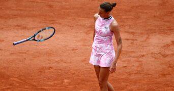 Karolina Pliskova at Roland-Garros in 2021