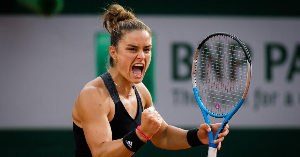 Maria Sakkari at Roland-Garros in 2021