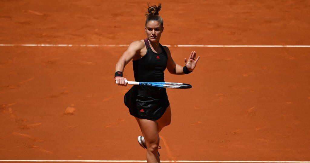 Maria Sakkari at Madrid in 2021