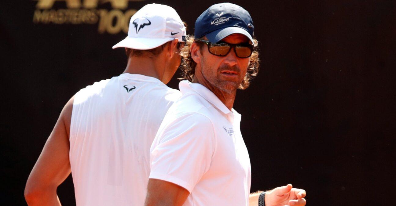 Rafael Nadal & Carlos Moya at Rome in 2020