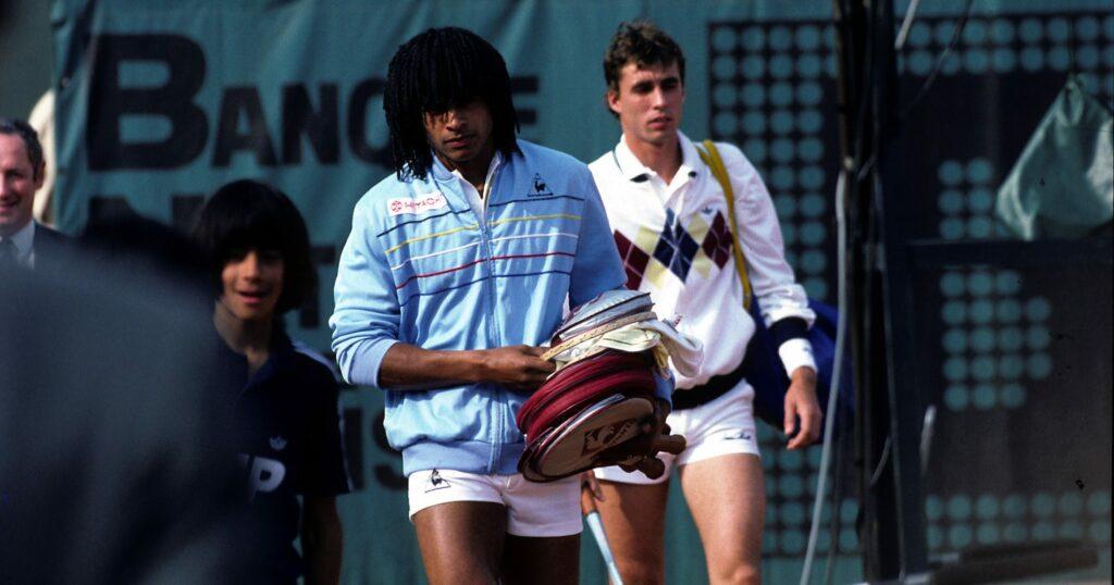 Yannick Noah & Mats Wilander, 1983 Roland-Garros final