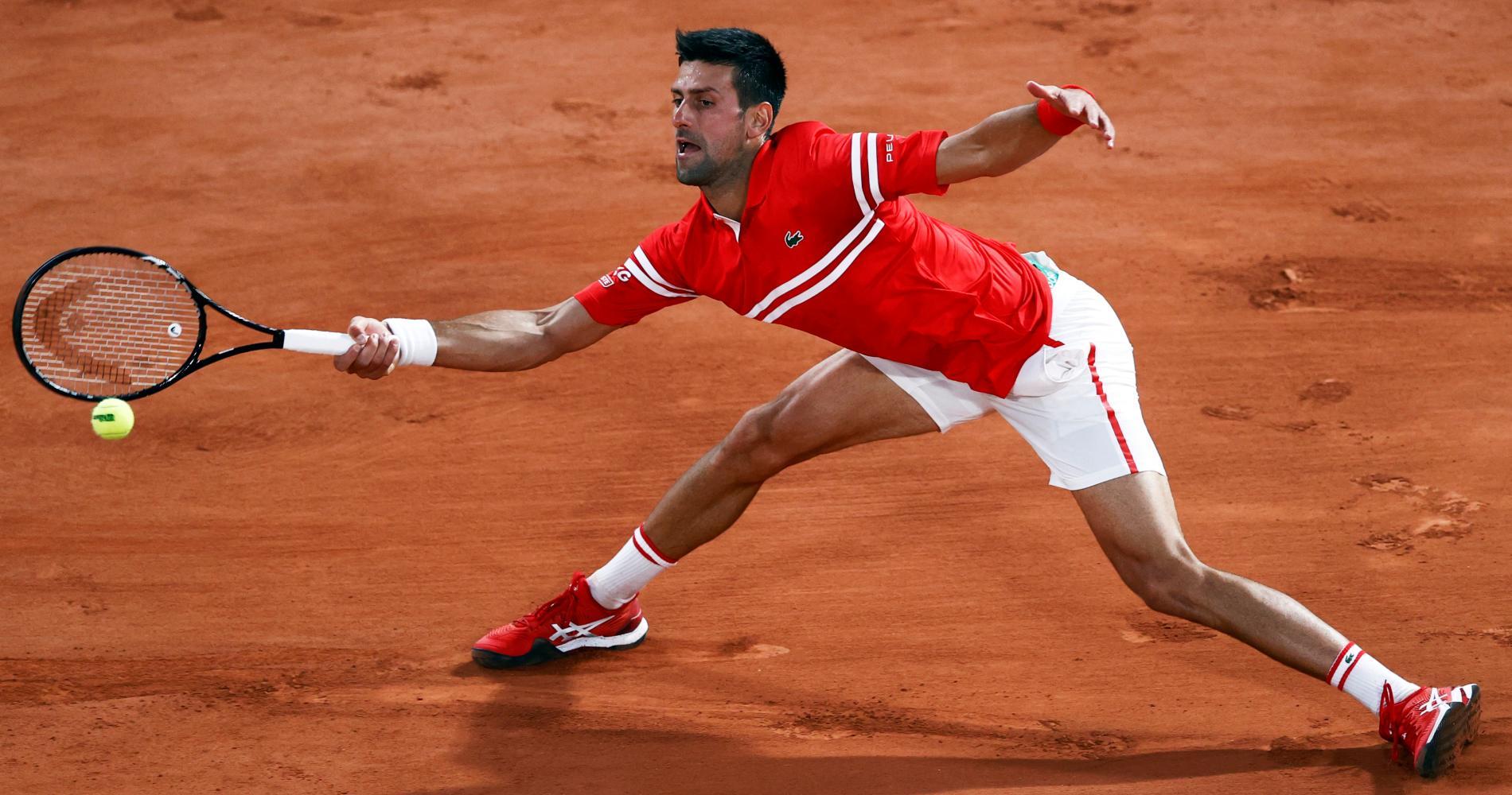 Novak Djokovic at Roland-Garros in 2021