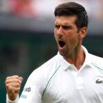 Novak Djokovic at Wimbledon in 2021