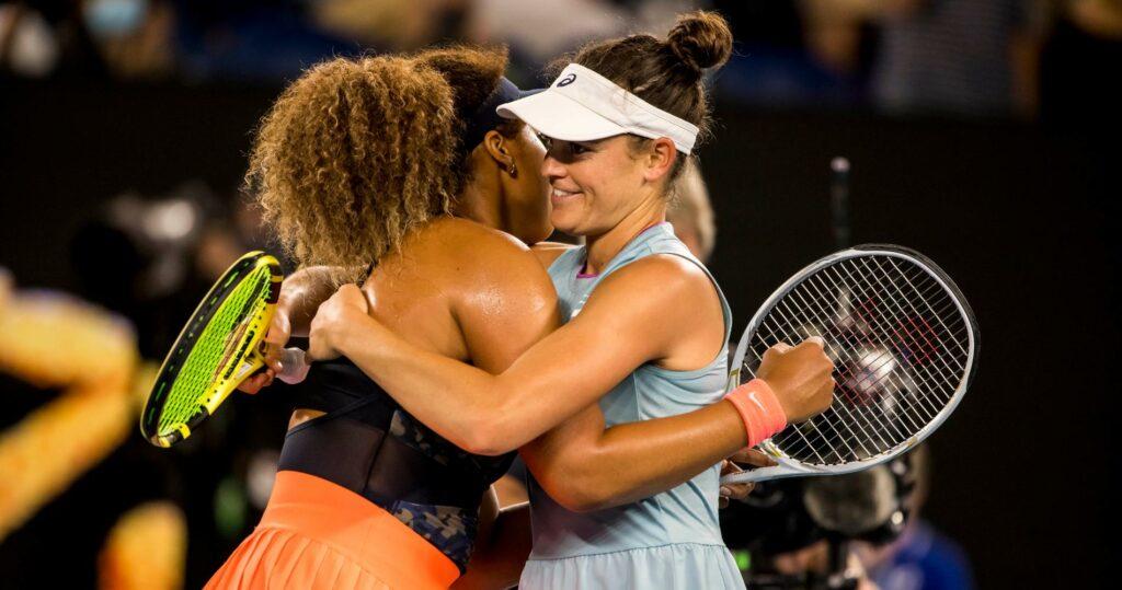 Naomi Osaka & Jennifer Brady at the Australian Open in 2021