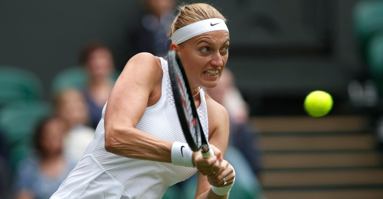 Petra Kvitova at Wimbledon in 2021