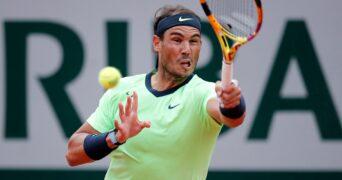 Rafael Nadal at Roland-Garros in 2021