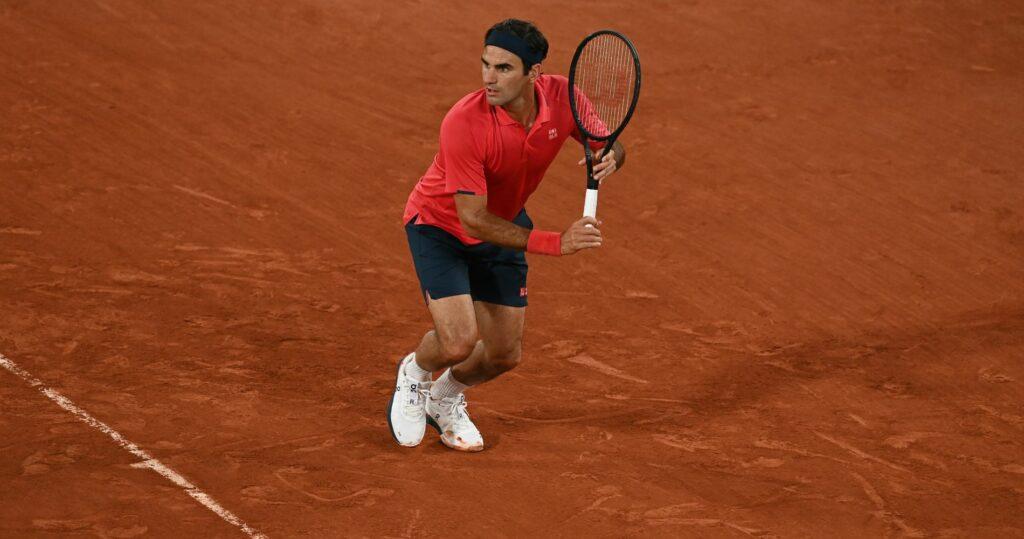 Roger Federer at Roland-Garros in 2021